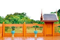 泰国样式房子 免版税库存照片