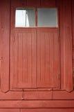 泰国样式木窗口 免版税图库摄影