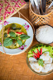 泰国样式格栅猪肉 免版税图库摄影