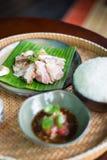 泰国样式格栅猪肉 免版税库存图片