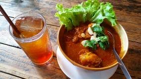 泰国样式浓咖喱用猪肉 库存图片
