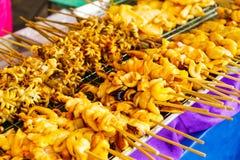 泰国样式烤棍子 图库摄影
