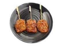泰国样式烤猪肉 免版税库存照片