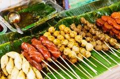 泰国样式烤食物 免版税库存照片