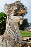 泰国样式狮子雕象 免版税库存照片