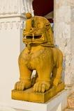 泰国样式狮子雕象 库存图片