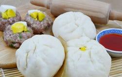 泰国样式猪肉小圆面包 免版税库存照片