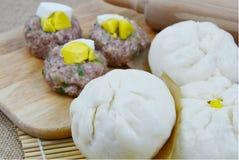 泰国样式猪肉小圆面包 图库摄影