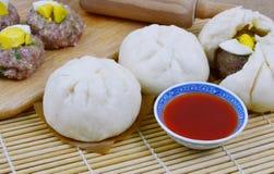 泰国样式猪肉小圆面包 免版税图库摄影