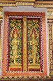 泰国样式窗口艺术  库存照片