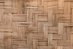 泰国样式竹样式墙壁 库存图片