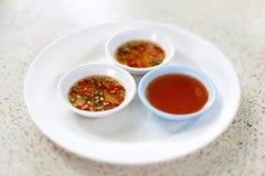泰国样式调味汁 免版税库存图片