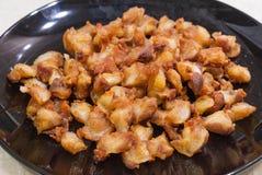 泰国样式酥脆鸡 库存照片