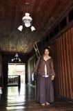 泰国模型俏丽的雷鬼摇摆乐老旅馆 库存图片