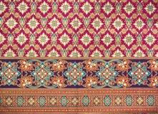 泰国模式丝绸的样式 免版税图库摄影