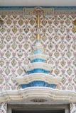 泰国模式墙壁 免版税库存照片