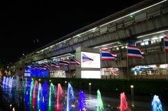 泰国模范是大厦将使用作为一块主要装饰玻璃 库存图片