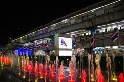 泰国模范是大厦将使用作为一块主要装饰玻璃 免版税库存照片