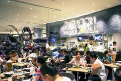 泰国模范的食物大厅是一个商城在曼谷 库存图片
