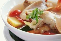 泰国汤姆薯类汤 免版税库存图片