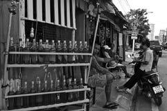泰国汽油摊贩在华欣 图库摄影
