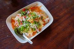 泰国沙拉食物 免版税库存照片