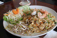 泰国油煎了虾或PadThai虾 库存照片