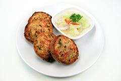 泰国油煎的猪肉面包 免版税库存图片