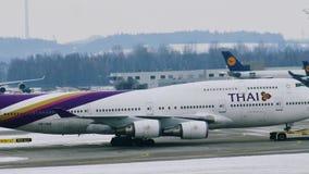 泰国波音747-400 股票录像