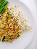 泰国泰国食物的垫,混乱与豆腐的油炸物面条在padthai样式 那个Thailands全国主菜 免版税图库摄影