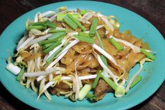 泰国泰国食物的填充,混乱油炸物面条用虾 图库摄影