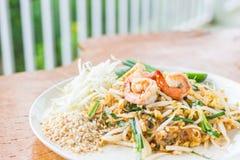 泰国泰国食物的填充,混乱油炸物面条用虾 库存图片