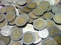 泰国泰铢铸造金钱 免版税库存图片