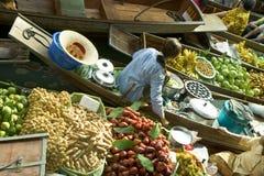 泰国浮动的市场 库存照片