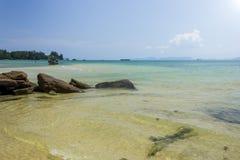 泰国海和海滩 库存图片