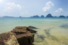 泰国海和海滩 免版税库存图片