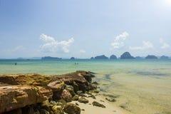 泰国海和海滩 免版税库存照片