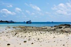 泰国海滩在夏天 免版税库存照片