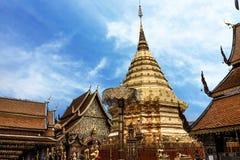 泰国清迈Wat Phra土井素贴 图库摄影