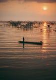 泰国渔夫 免版税图库摄影