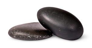 泰国温泉的两块黑石头 图库摄影