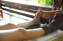 泰国温泉脚按摩 免版税库存照片