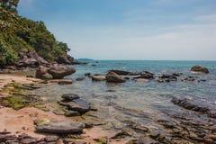 泰国湾的海岸 库存图片
