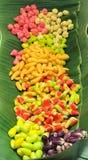 泰国点心-被仿效的大豆饺子用果冻涂在fru 免版税库存照片