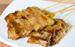 泰国烤猪肉的样式 免版税库存照片