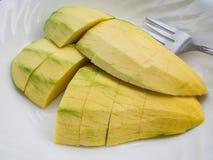 泰国热带水果。 免版税库存图片