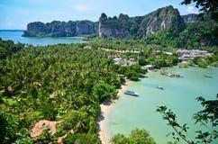 泰国热带海滩天堂 图库摄影