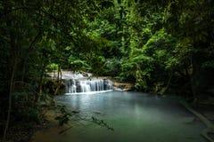 泰国热带瀑布 库存照片