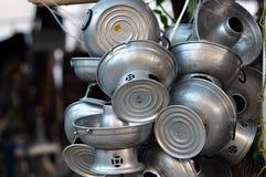 泰国热的罐 免版税库存照片