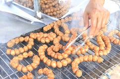 泰国烹调东部香肠 图库摄影
